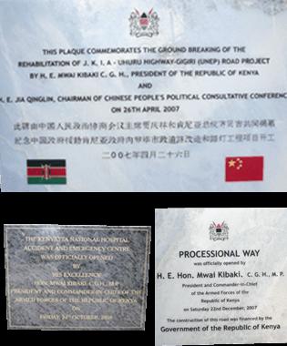 Plaques Kenya